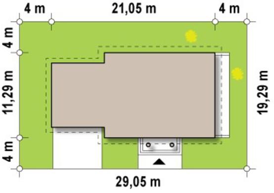 Проект просторного 1,5-этажного особняка с гаражом на 2 автомашины