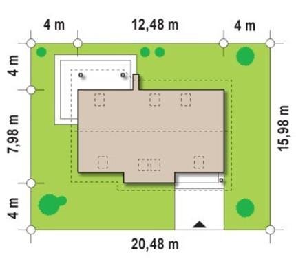 Проект классического коттеджа с большой комнатой на первом этаже