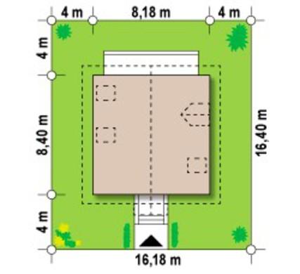 Компактный проект уютного экологичного коттеджа
