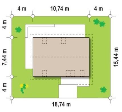 Проект симпатичного малогабаритного дома с мансардой