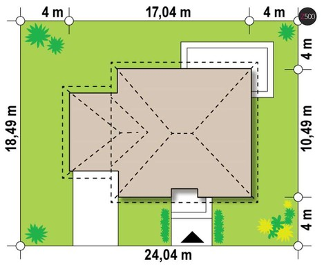 Проект одноэтажной усадьбы с гаражом