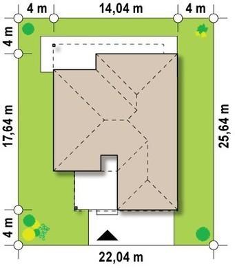 Просторный одноэтажный коттедж в стиле хай-тек с двумя спальнями