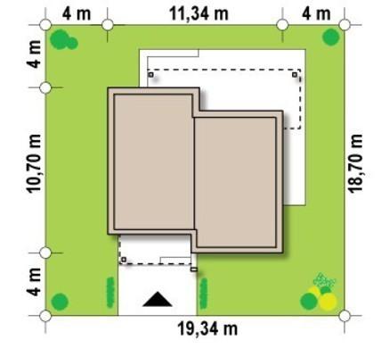 Проект маленького современного дома хай-тек