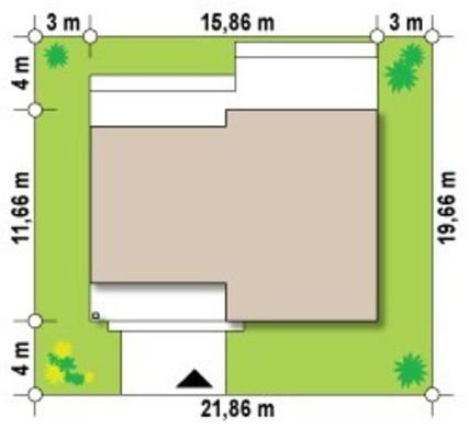 Очаровательный проект современного загородного дома с плоской крышей