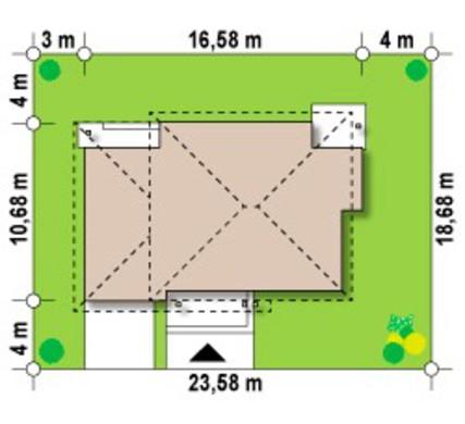 Проект просторного 2х этажного дома с четырехскатной кровлей