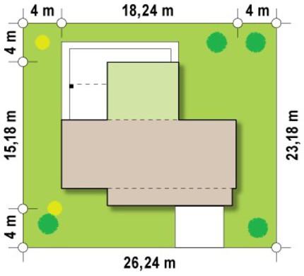 Современный проект дома с двумя спальнями