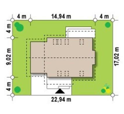 Проект функционального дома с мансардой, гаражом