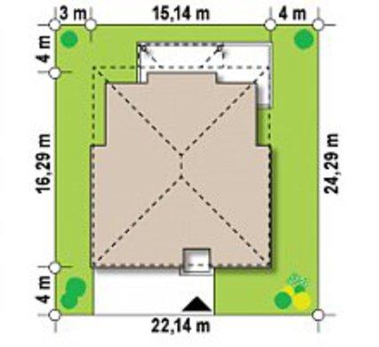 Проект классической виллы с комнатой для бильярда и сауной