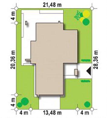 Проект двухэтажного дома с сауной и террасой