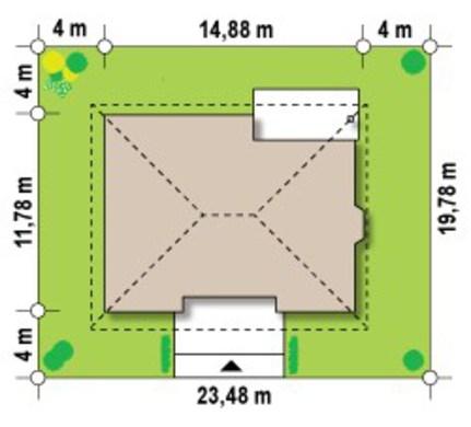 Популярный проект одноэтажного дома 4M011 в каркасном исполнении