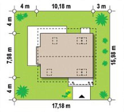 Проект уютного компактного дачного коттеджа для небольшого участка