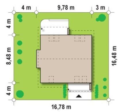 Компактный загородный дом с кабинетом на первом этаже