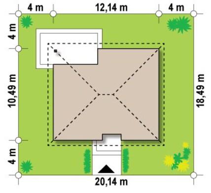 Проект переделанного дома по типу 4M314 с жилой мансардой
