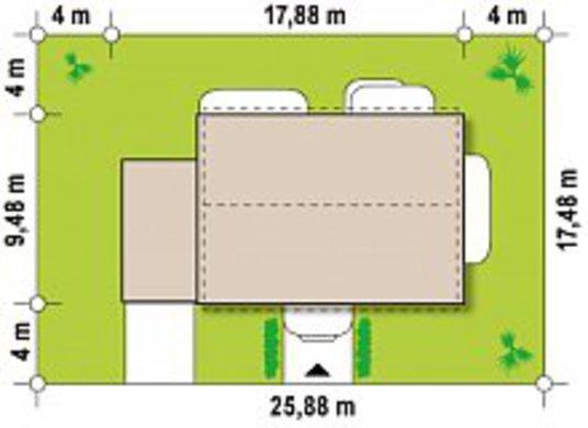 Проект двухэтажного коттеджа по типу 4M600 с гаражом