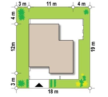 Современный дом для загородного отдыха с оригинальной террасой