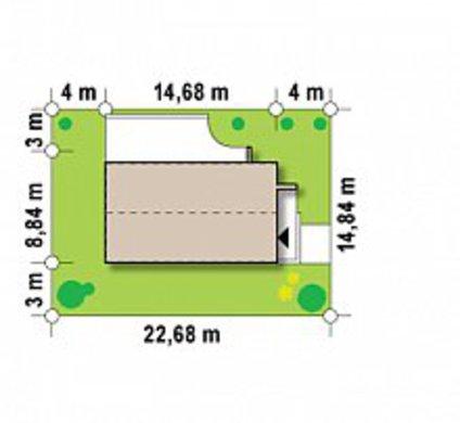 2-х этажный пригородный коттедж для узкого участка по типу 4M692 без гаража