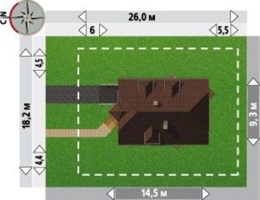 Двухэтажное интересное строение на два этажа с цокольными помещениями