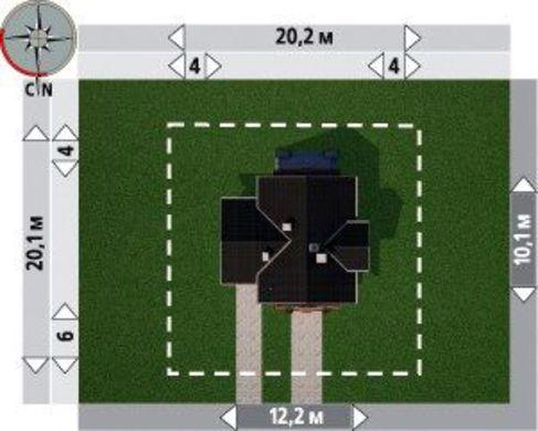 1,5-этажный коттедж 200 m² с гаражом на 1 авто