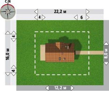 Двухэтажный особняк с просторной зоной для приема гостей