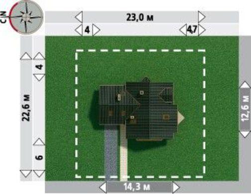 Архитектурный проект комфортабельного двухэтажного коттеджа