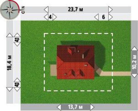 Большой загородный особняк с площадью 220 m²