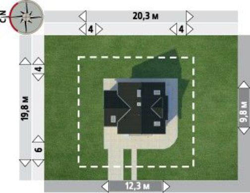 Архитектурный проект современного коттеджа с красивой и просторной гостиной