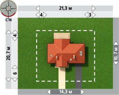 Привлекательный проект дома с мансардой и гаражом на 1 авто