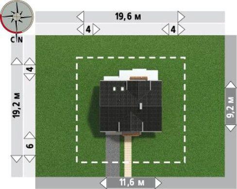 Привлекательный проект коттеджа 180 m² с мансардой и гаражом на 1 машину