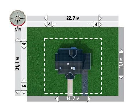 Проект оригинального мансардного дома более 150 m²