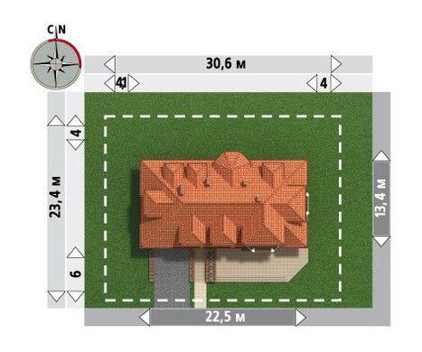 Дом с гаражом на 2 авто размером 12 на 22