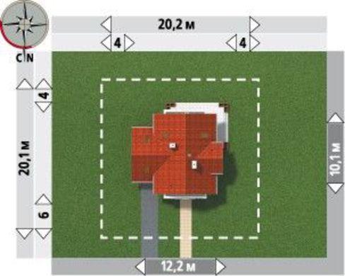 1,5-этажный коттедж с пристроенным гаражом