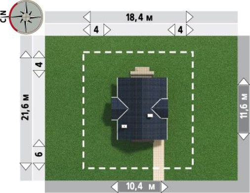 Интересный проект двухэтажного коттеджа площадью более 100м2