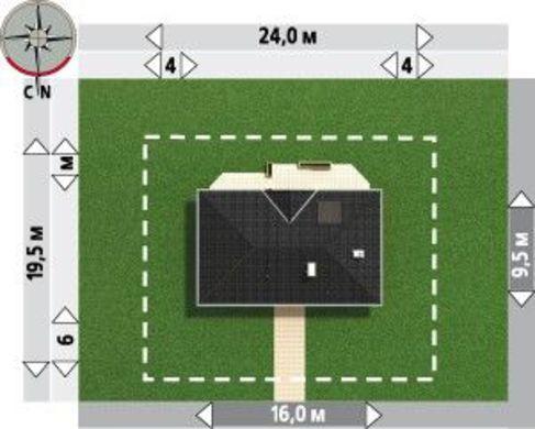 Красивый проект загородного дома для узкого участка